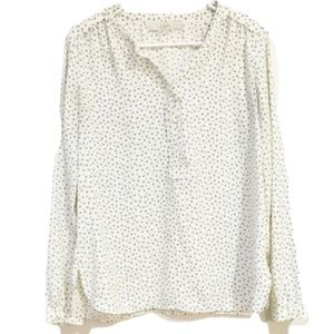 Loft Stars and Dots Cream Blouse